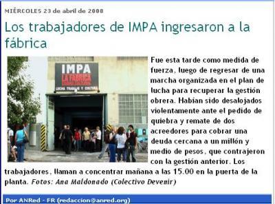 ¡el IMPA vuelve!