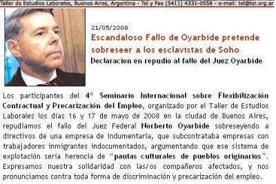 """El juez de """"SPARTACUS"""" discriminador"""