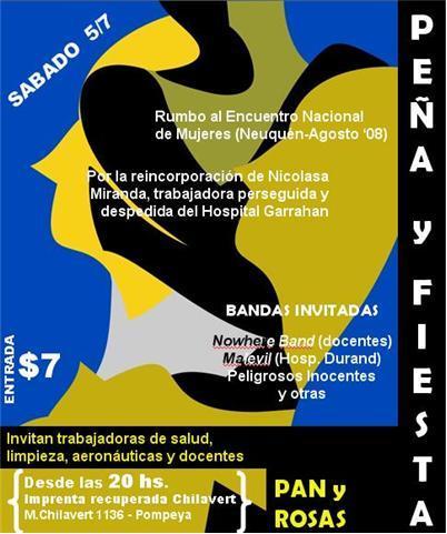 Contra la precarización laboral y por los derechos de las mujeres trabajadoras. Exigimos la inmediata reincorporación de Nicolasa Miranda!