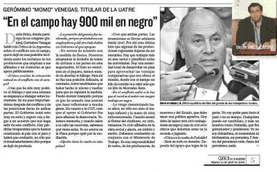 ¡¡¡INCREIBLE!!!! un millón de trabajadores en negro y DAER lo reivindica.